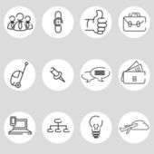 Business Icon Set — Vector de stock