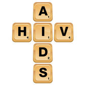 HIV AIDS Puzzle — Stock Vector