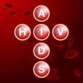 HIV AIDS Blood Cells — Vettoriale Stock