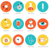 Medical Science Icon Set — Stock Vector