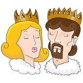 King And Queen — Stock Vector
