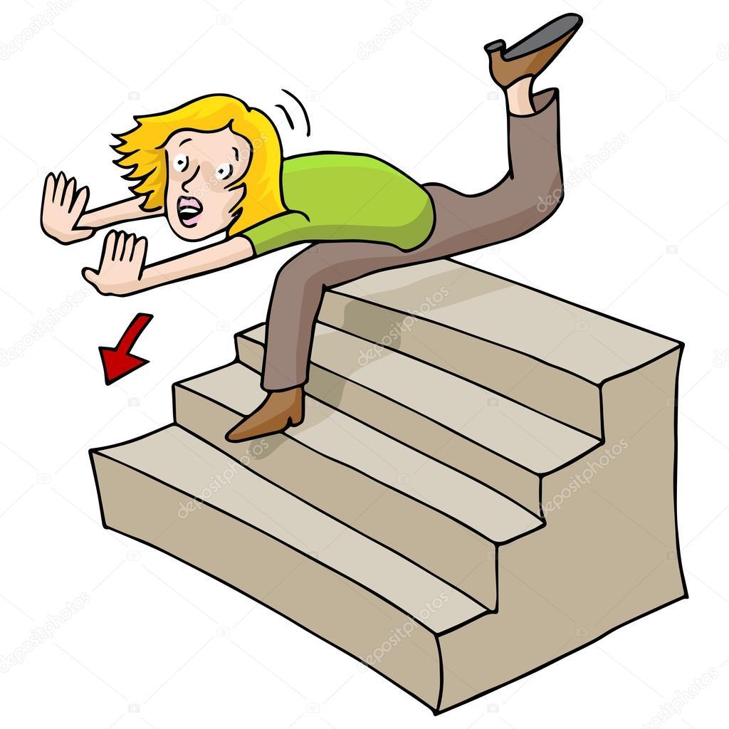 侧面楼梯矢量图