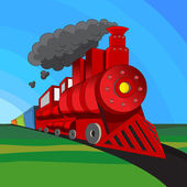 Locomotive Train — Stock Vector