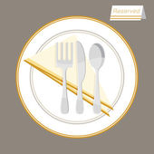 Reserved Table Setting — Stock Vector
