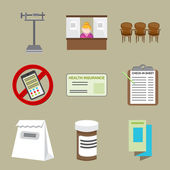 Doctor Office  Icons — Stock Vector