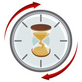 Přesýpací hodiny časovač — Stock vektor
