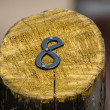 Number Eight on a Painted Wooden Post — Stock Photo