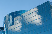 Modern Office Building Reflecting the Clouds — Stock Photo