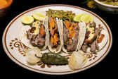 Mexican Arrachera Beef Tacos — Stock Photo