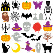 Halloween icons — Stock vektor