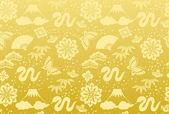 Golden background of a snake. — Stock Vector
