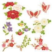 Kinesiska blommor — Stockvektor