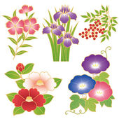 Chinese flowers — Stock Vector
