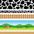 Stock Vector: Pastoral background
