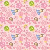 Japanese Girls' Festival background — Vector de stock
