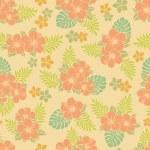 Hibiscus pattern — Stock Vector