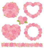 Buquê de rosa — Vetorial Stock