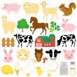 Stock Vector: Stock farm icons