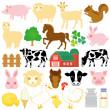 Stock farm icons — Stock Vector