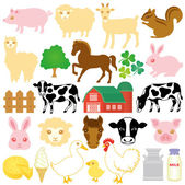 Stock farm icons — Stock Vector