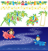 The Star Festival — Stock Vector