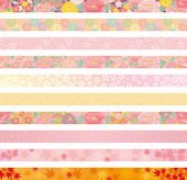 Japanese floral background — Stock Vector