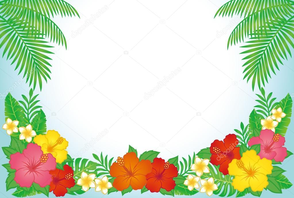 热带度假村背景 — 图库矢量图像08