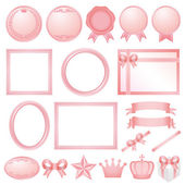 Pink decorations. — Stock Vector