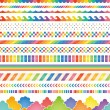 Rainbow colored decorations. - Stock Vector