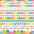Stock Vector: Rainbow colored decorations.
