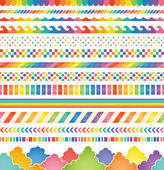 Rainbow colored decorations. — Stock Vector
