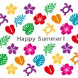 Stock Vector: Summer greeting card