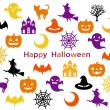 Halloween party-card — Stock Vector