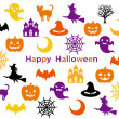 Halloween party-card — Imagen vectorial