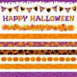 Halloween decorations — Stock Vector