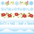 Japanese winter illustrations. — Stock Vector