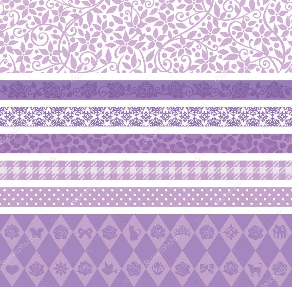 purple decoration line stock vector lalan33 34109319. Black Bedroom Furniture Sets. Home Design Ideas