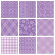 Purple decorative pattern. — Vektorgrafik