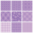 Purple decorative pattern. — Stok Vektör