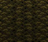 Japanese ocean wave pattern — Vettoriale Stock