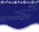 Winter background with snowflakes and Milky Way. — Stockvector