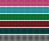Set of tartan check lines. — Stock Vector
