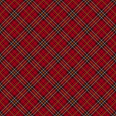 Red tartan check background. — Stock Vector