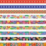 Set of Bingata banners. — Stock Vector