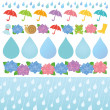 Set of rainy day illustrations. — Stock Vector #40735597