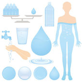 Set of water illustrations. — Stock Vector