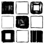 Brush stroke squares. handwritten squares. — ストックベクタ