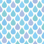 Seamless pattern with decorative raindrops. — Stock Vector