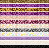 Leopard skin banners. — Stock Vector
