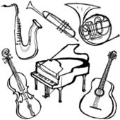 Musical instruments. — Stock Vector
